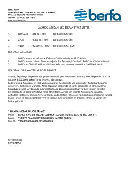 banka hesap bilgilerimiz avanos meydanı led ekran fiyat listesi