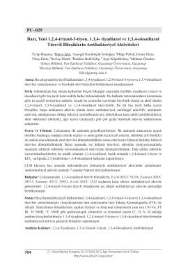 PC–029 Bazı, Yeni 1,2,4-triazol-3-tiyon, 1,3,4