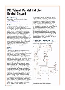PIC Tabanlõ Paralel Hidrofor Kontrol Sistemi