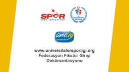 Giriş - Üniversiteler Spor Ligi