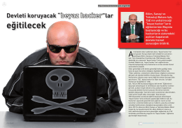 """Devleti koruyacak """"beyaz hacker""""lar eğitilecek"""