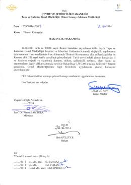Bakan Oluru - Tapu ve Kadastro Genel Müdürlüğü