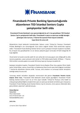 Finansbank Private Banking Sponsorluğunda düzenlenen TED