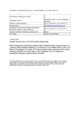 31.01.2014 Kredi Garantörlükleri
