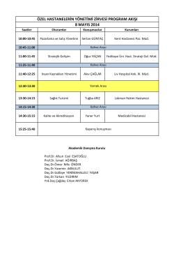 8 Mayıs Program