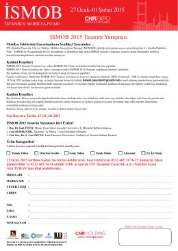 ISMOB 2015 Tasarım Yarışması Formu