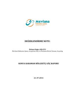 Konya-Karaman Göç Analizi