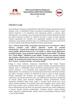 2014 Sosyal Kalkınma Altyapısının Güçlendirilmesi MDP (TR51/14