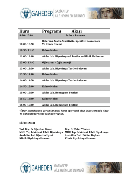 Kurs Program Akışı