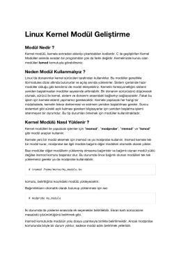 Linux Kernel Modül Geliştirme