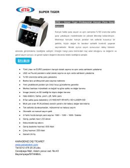 pdf indir - Para Sayma Makinesi