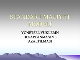 Standart Maliyet Modeli Projesi