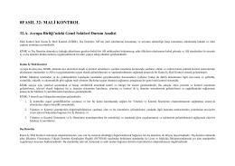 Mali Kontrol - KKTC Başbakanlık Avrupa Birliği Koordinasyon Merkezi