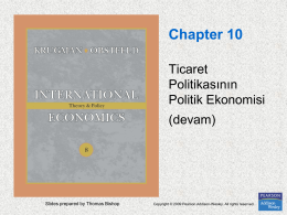 Chapter 10. The Political Economy of Trade Policy