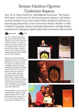 Devamı için tıklayın - İstanbul Ticaret Üniversitesi