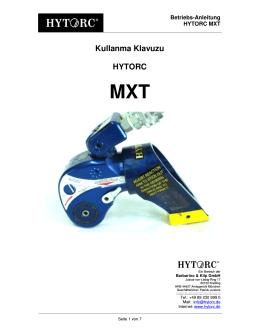 Kullanma Klavuzu HYTORC MXT
