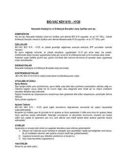 BIO-VAC NDV 6/10 – H120