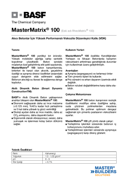 MasterMatrix® 100 (Eski adı RheoMatrix® 100) Akıcı