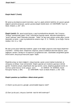 Edebi Türler - EdebiArsiv.Com