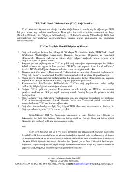 Staj Duyurusu - tübitak ulusal gözlemevi