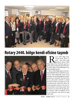 Rotary 2440. bölge kendi ofisine taşındı
