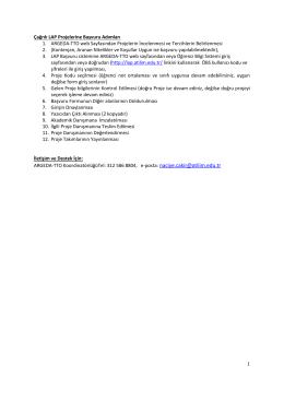 Lisans Araştırma Projeleri (LAP) Programı Üniversitemizde lisans