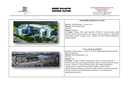 Sismik İzolasyon Portfolyosu - OBS Proje Mühendislik Müşavirlik Ltd