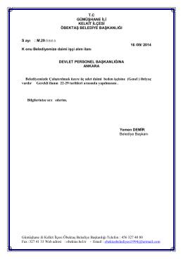 Gümüşhane ili Kelkit İlçesi Öbektaş Belediye Başkanlığı Telefon