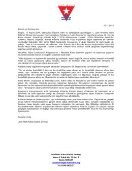 José Martí Küba Dostluk Derneği Konur