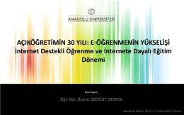 e-Öğrenme Portalı - Akademik Bilişim Konferansları