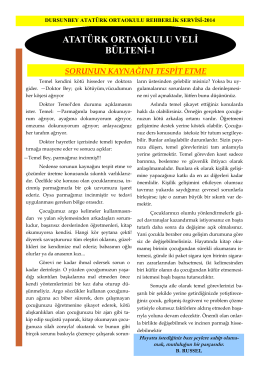 ATATÜRK ORTAOKULU VELİ BÜLTENİ-1