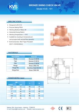 50 Check valve - KVS 101