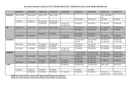 2013-2014 bahar yarıyılı istatistik bölümü ı. öğretim haftalık ders