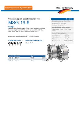 MSG 19-9 - teknolit.com.tr