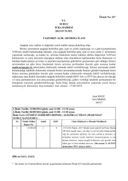 Örnek No: 25* TC SURUÇ İCRA DAİRESİ 2013/19