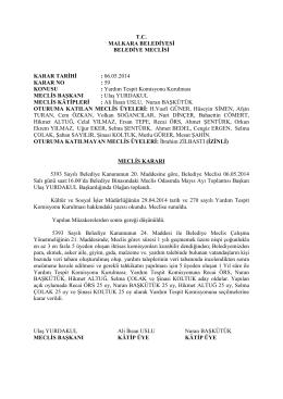 Karar No - 59 : Yardım Tespit Komisyonu Kurulması