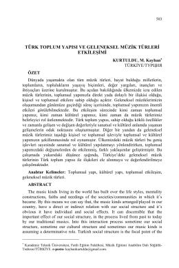KURTULDU, M. Kayhan-TÜRK TOPLUM YAPISI VE