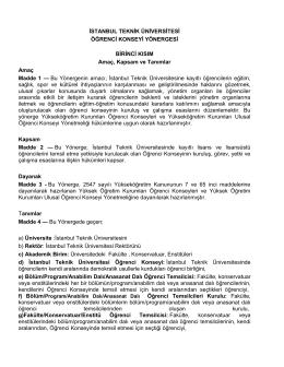 ıtu_ogrencı_konseyı_yonergesı_2014