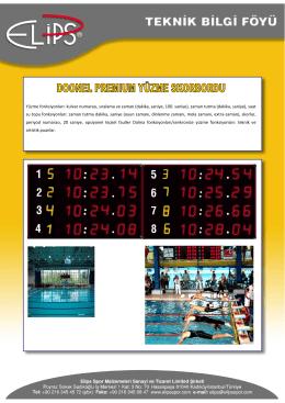 Teknik Bilgi Föyü - Elips Spor Mühendisliği