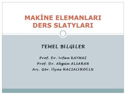 01_Temel Bilgiler - Mehmet Adem Yıldız