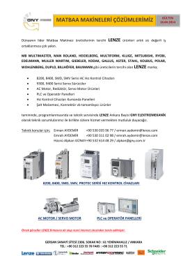 Matbaa Makinelerinizde LENZE Cozumleri 16.04.2014