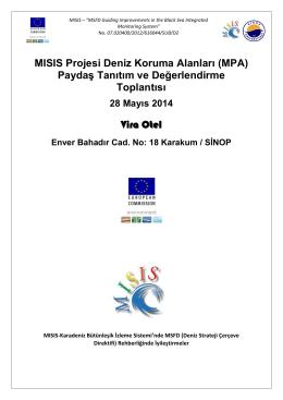 MISIS Projesi Deniz Koruma Alanları (MPA) Paydaş Tanıtım ve