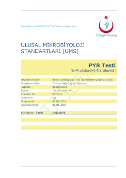 PYR testi - Türkiye Halk Sağlığı Kurumu