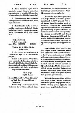 TBMM B : 105 20. 6 . 1989 O : 1 4. Enver Yelken* in Sağlık Meslek