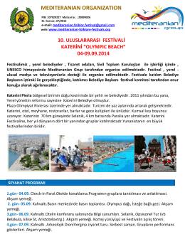 Olympic Beach - Katerini - Mediteranian organization