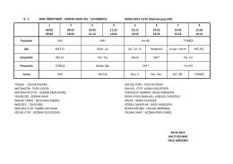8-C Sınıfı Ders Programı
