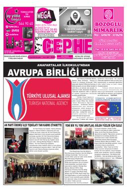 1.1.2015 Tarihli Cephe Gazetesi