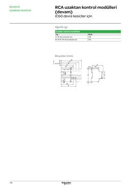 RCA Modül Boyut - Schneider Electric
