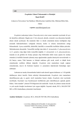 Exophiala - Biyoloji Kongreleri