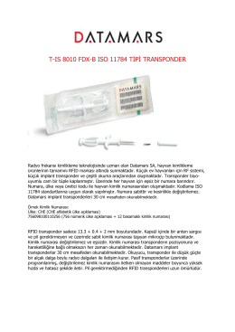 T-IS 8010 FDX-B ISO 11784 TİPİ TRANSPONDER